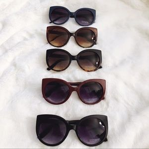 Ella Cat Eye Ombre Oval Sunglasses